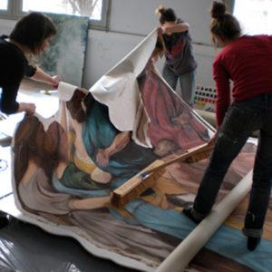 Toile peinte pour la Troade et Hippolyte de Garnier - ENSATT 2009